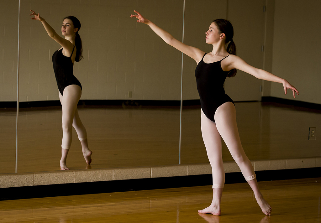 Corinne Shaw in the SJS dance studio